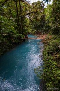 bridge blue river Rio Celeste Costa Rica Central America
