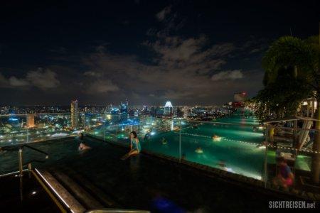 pool Marina Bay Sands night Singapore Asia