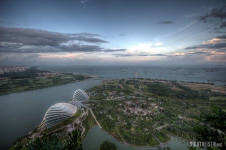 Marina Bay Sands Gardens by the Bay dawn Singapore Asia