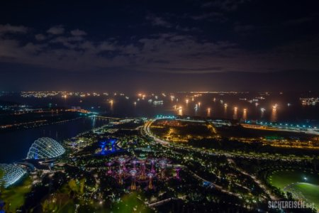 Marina Bay Sands Gardens by the Bay night Singapore Asia