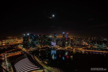 Marina Bay Sands Skyline night Singapore Asia