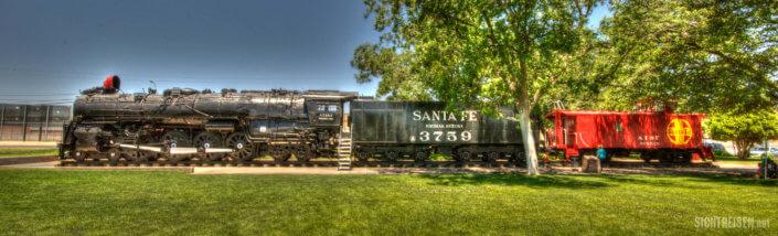 Route 66 steam locomotive Santa Fe Arizona