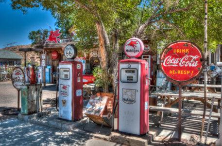 Route 66 Arizona gas station Coca Cola
